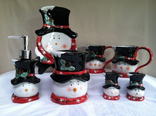 Snowman Winter Christmas Glass Ceramic Mug