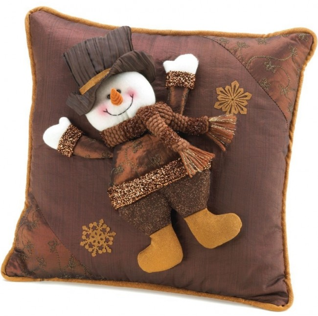 Sparkle Snowman Pillow