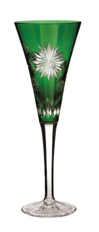 Waterford Crystal Snowflake Wishes for Courage Emerald Flute