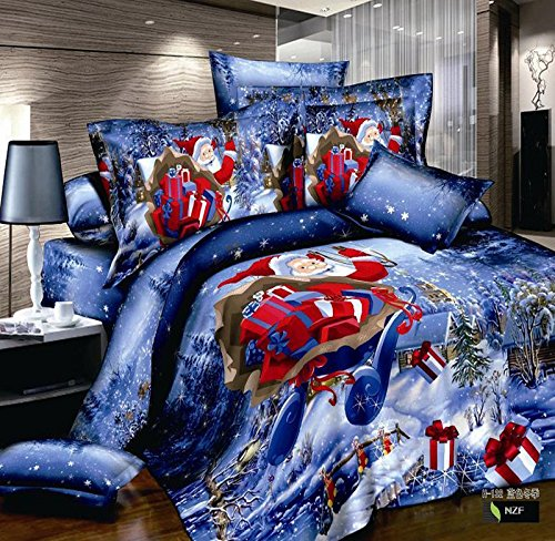 3d Christmas Red Santa Claus Bedding