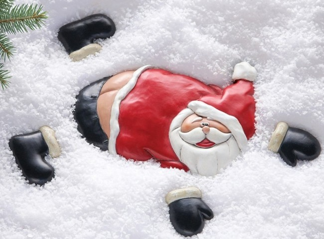 Christmas Flat Santa Ground Yard Decoration