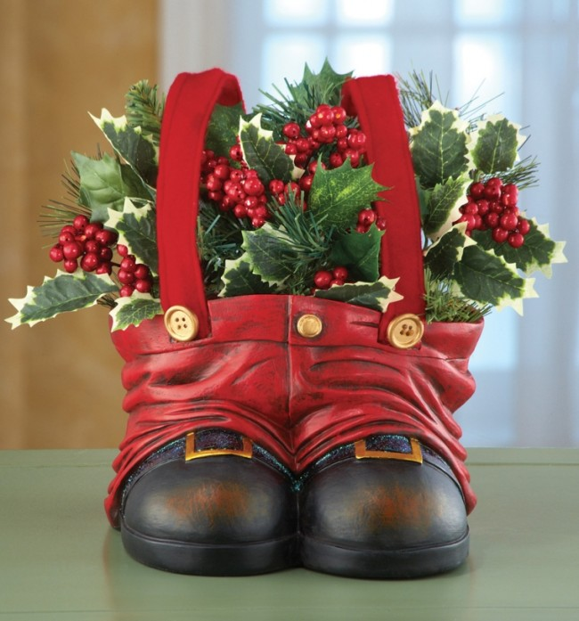 Christmas Santa Pants Decorative Garden Planter