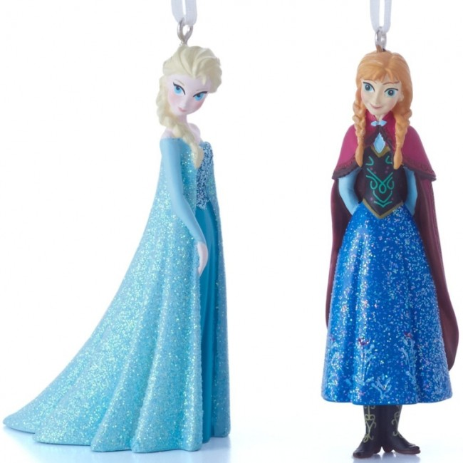 Disney Elsa and Anna Christmas Ornaments