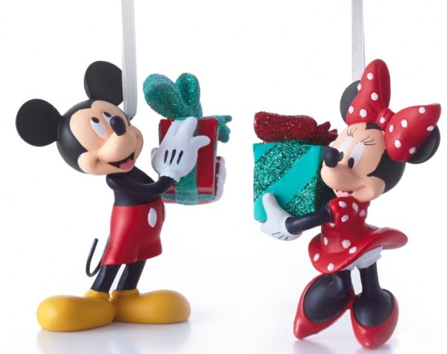 Disney Mickey and Minnie Mouse Christmas Ornaments