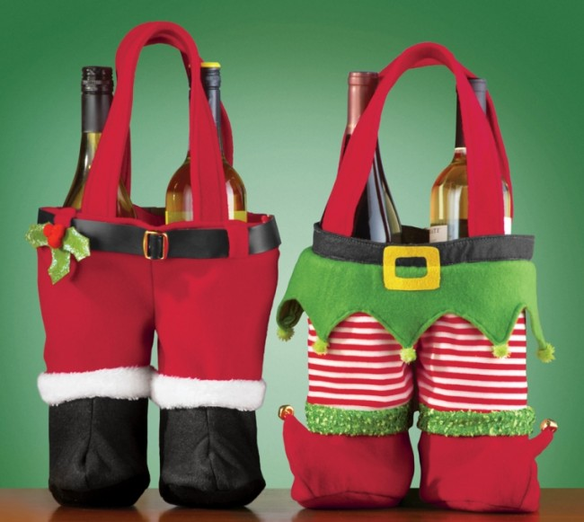 Festive Christmas Wine Holder