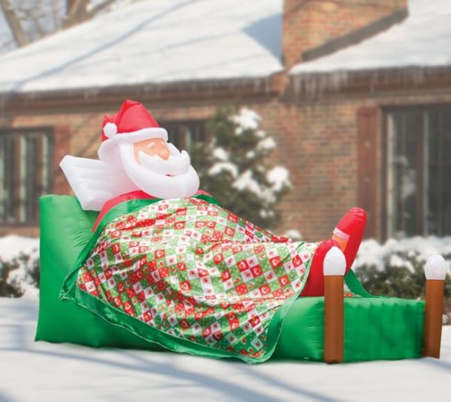 Inflatable Slumbering Santa
