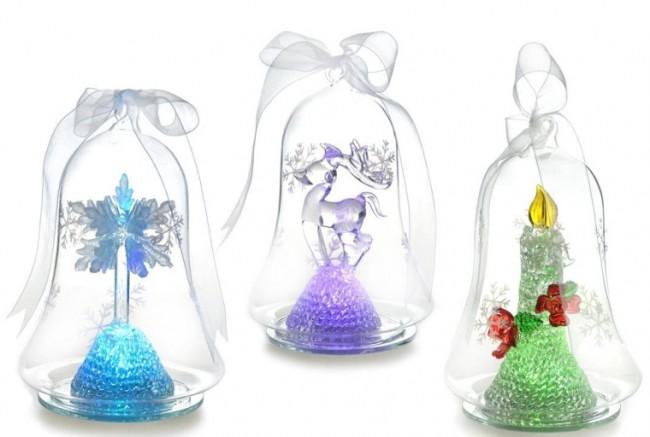Light up Christmas Glass Ornament