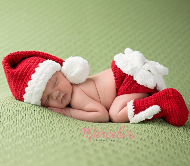 Little Miss Claus Christmas Baby Hat