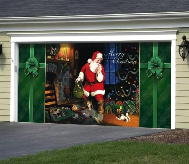 Santas Secret Outdoor Christmas Holiday Garage Door