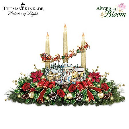 The Lights Of Christmas Illuminating Village Table Centerpiece