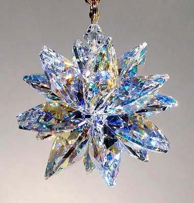 Aurora Borealis Suncluster with Swarovski Crystal