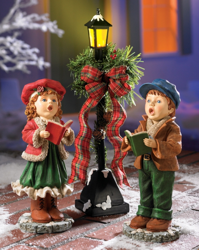 Christmas Children Singing  Caroling Figurine Set