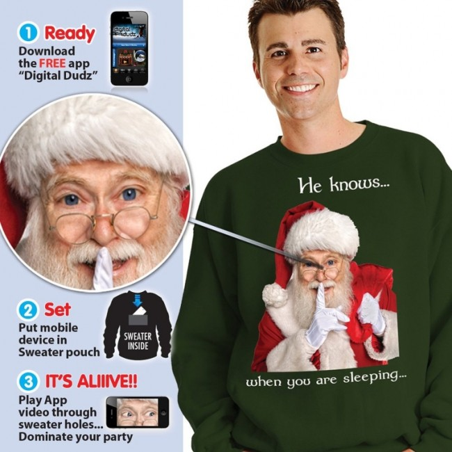 Digital Dudz Santa Ugly Christmas Sweatshirt