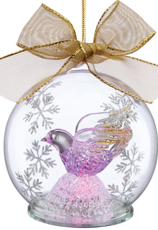 Lenox Dove Lighted Wonder Ball Ornament