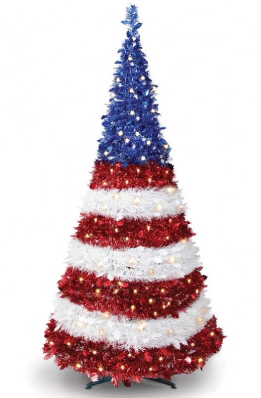 The Prelit Pop-Up Patriot Tree