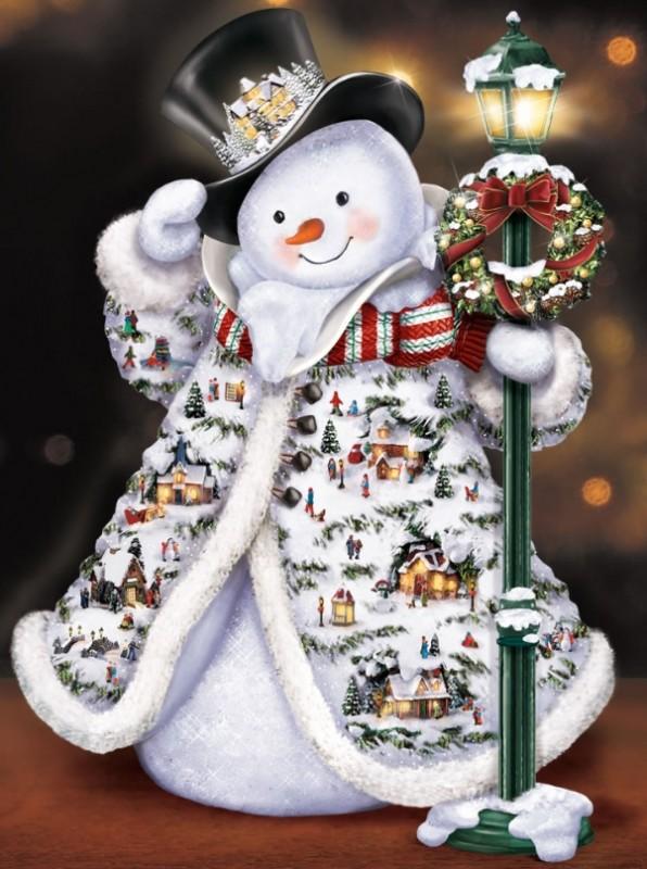 The Thomas Kinkade Faux Fur Snowman