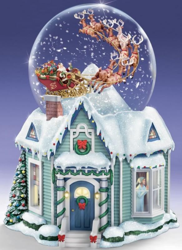 The Thomas Kinkade Night Before Christmas Snowglobe