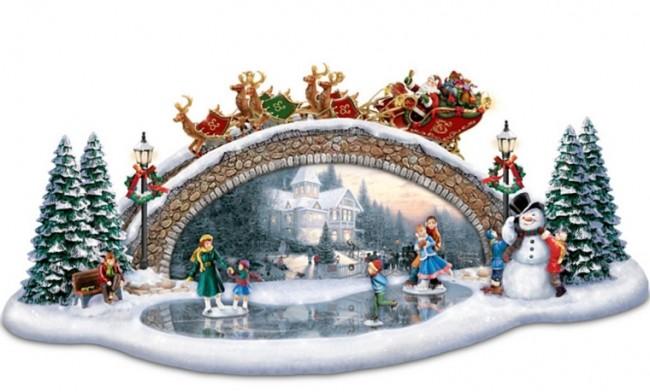 Christmas Decor Bridge Sculpture Light Up The Season