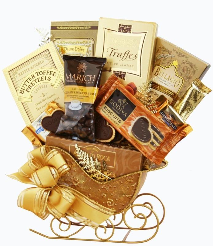 Delicious Golden Sleigh Holiday Gift