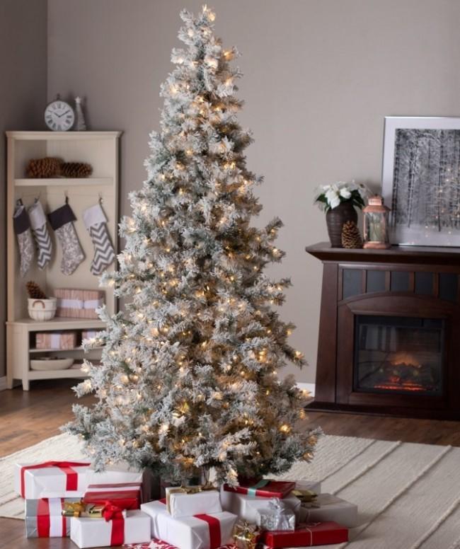 Pine wLaser Glitter Christmas Tree