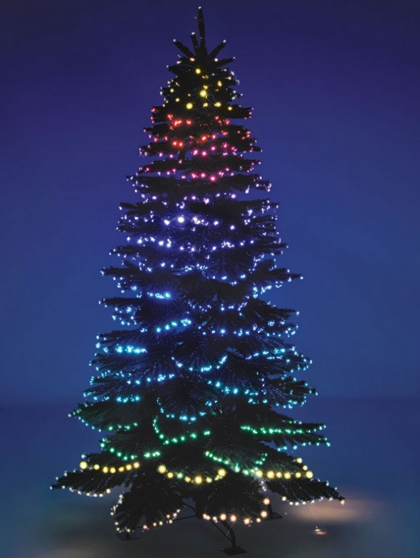 The Cascading Color Light Show Tree