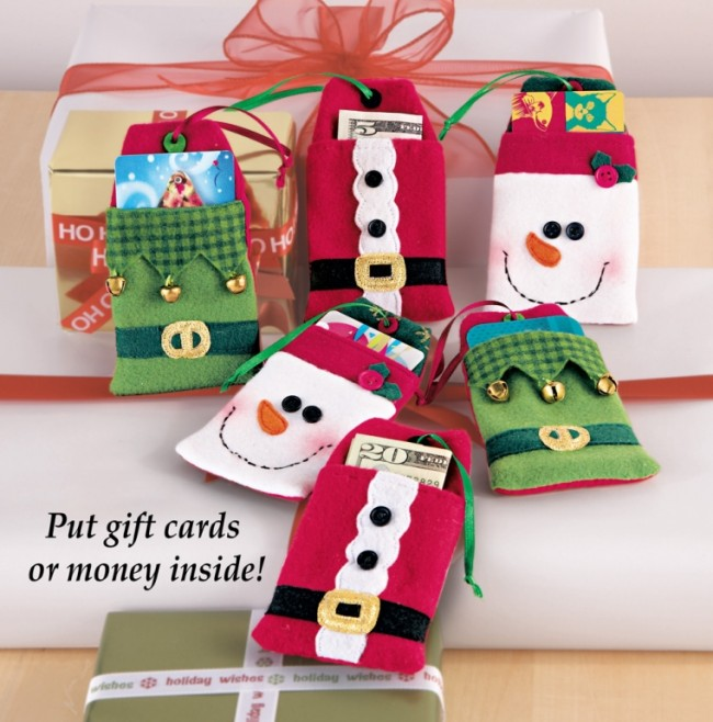 Felt Christmas Gift Card Holder