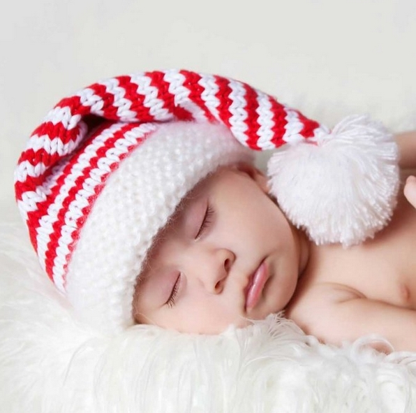 Baby and Toddler Boys or Girls Santa Elf Stocking Hat