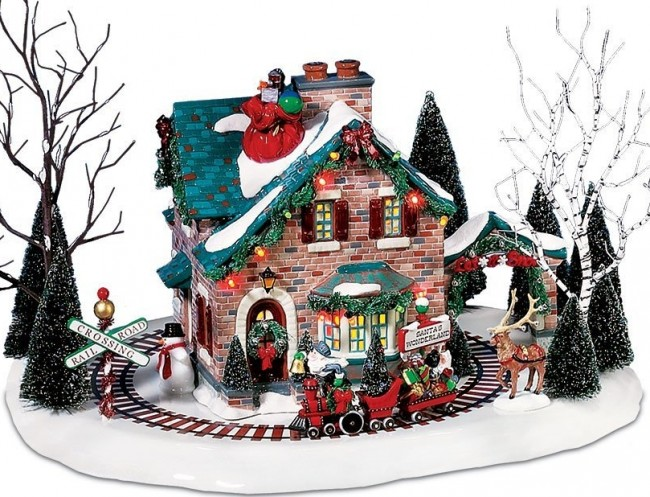 Christmas Lane Series Animated Snow Village