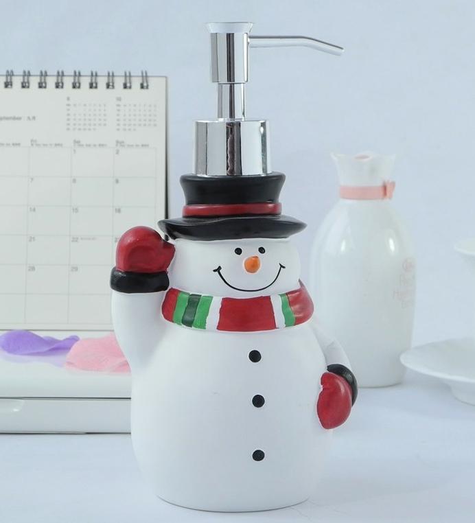 Christmas Snowman Soap Dispenser Lotion Dispenser Christmas