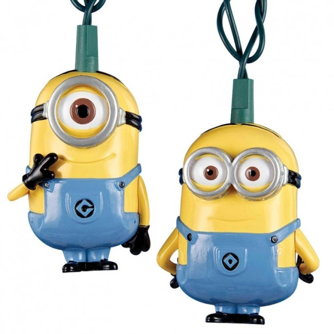 Despicable Me Dave and Carl Christmas Ornaments & Minion Lights