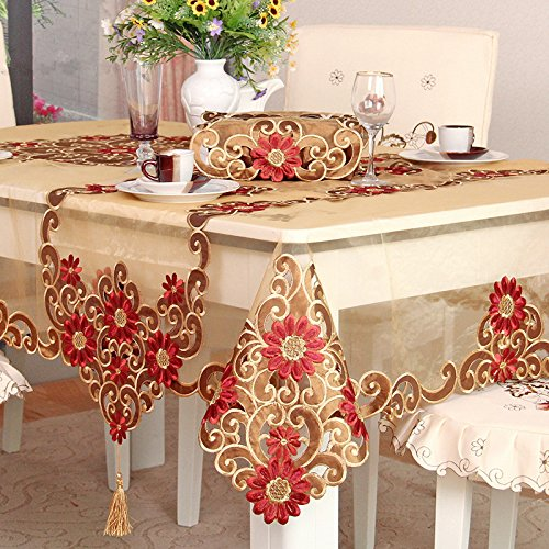 Rustic Floral Pattern Tablecloth For Christmas