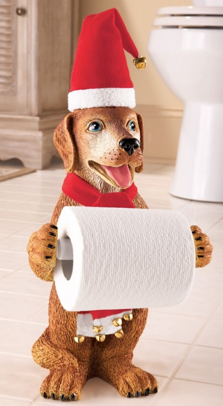 Seasonal Dog Toliet Paper Holder