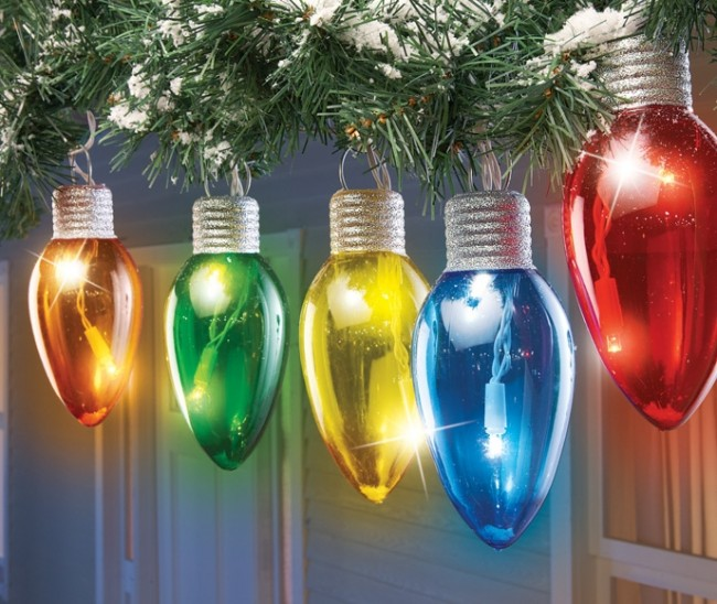 Solar Multi Color Holiday Bulbs Light String