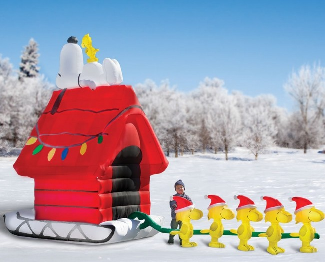 The Snoopy And Friends 17' Inflatable Sleigh