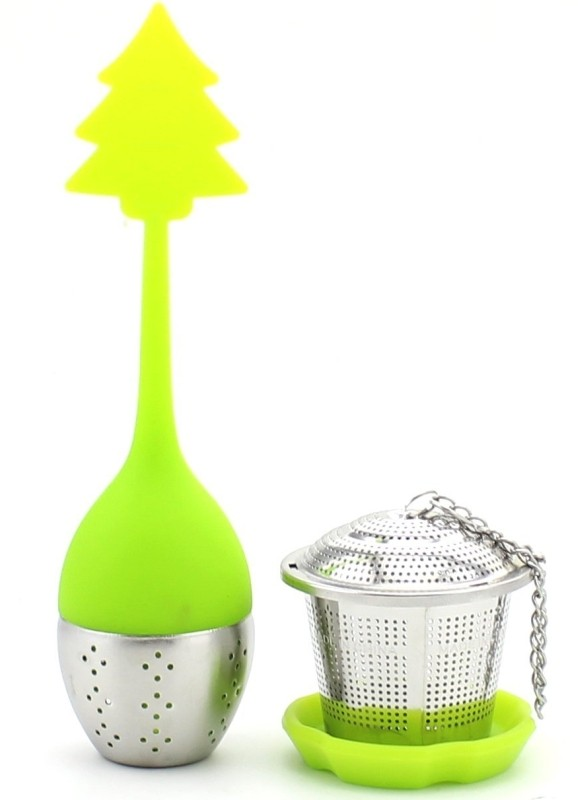 Zicome Set of 2 Stainless Steel Mesh Infuser Strainer + Silicone Tea Leaf Infuser Filter Strainer