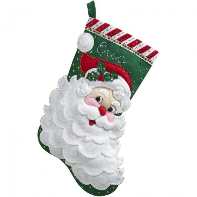olly Saint Nick Felt Applique Stocking Kit