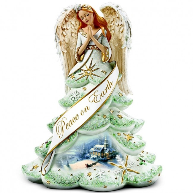 Christmas Angel Of Peace Figurine