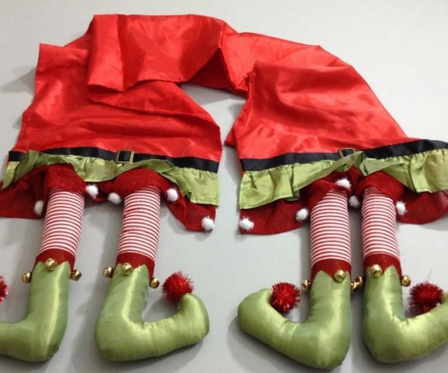 Christmas Elf Legs Table Runner