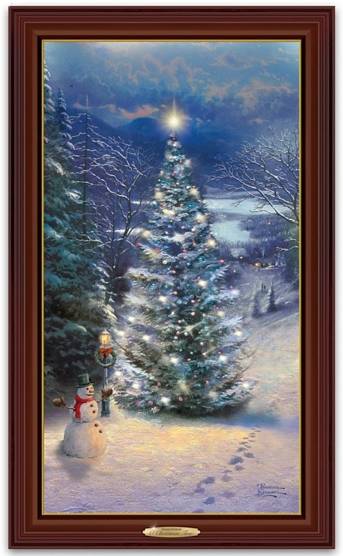 Christmas Tree Wall Hanging Framed Canvas Print