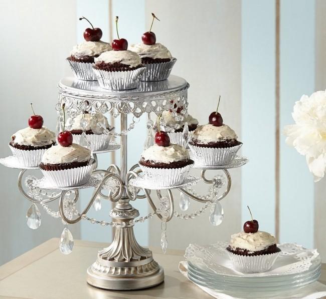 Crystal Cake and Cupcake Stand