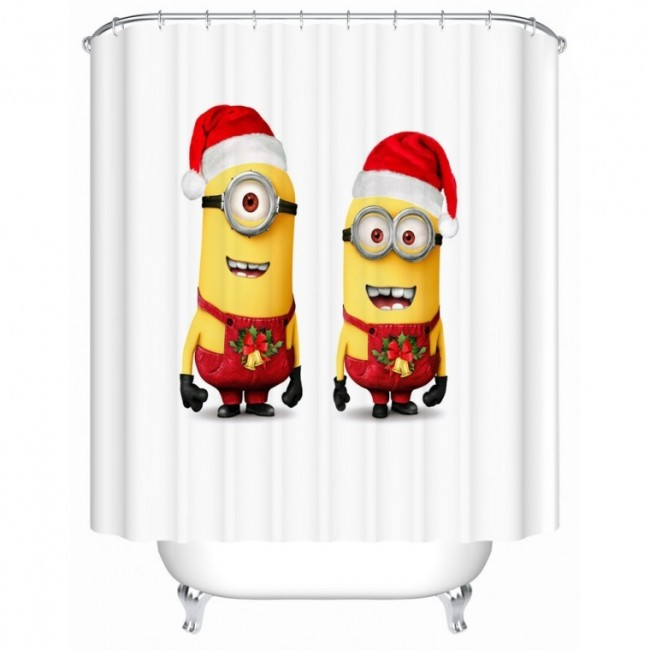 Custom Merry Christmas Fashion Gift GF12F02 Fabric Waterproof Bathroom Shower Curtain 60 x 72