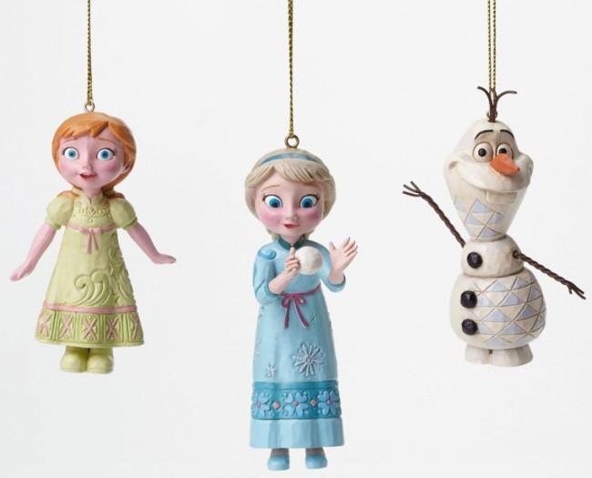 Disney Frozen Elsa, Anna, Olaf Ornament Set
