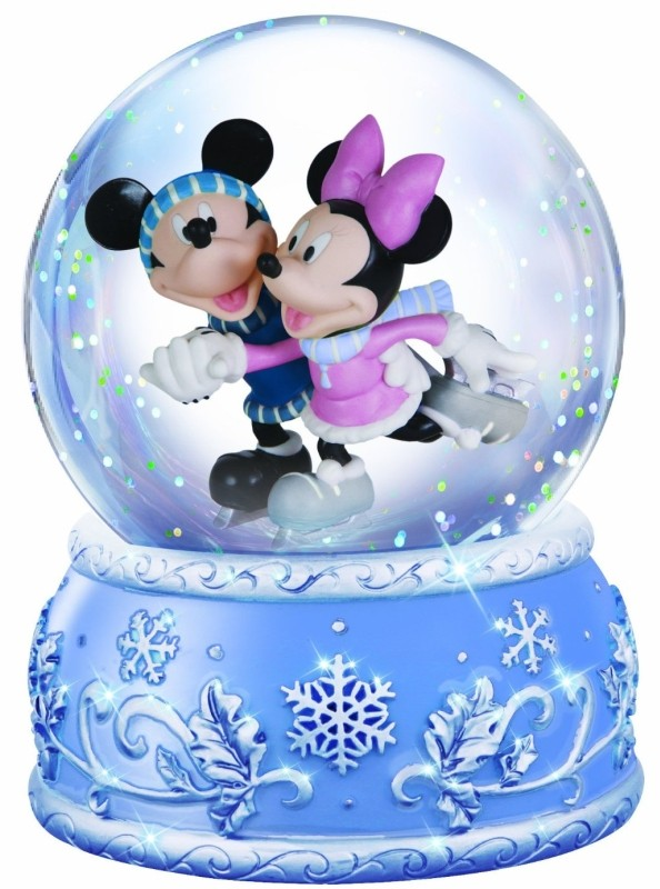 Disney Mickey and Minnie Ice Skating Waterball