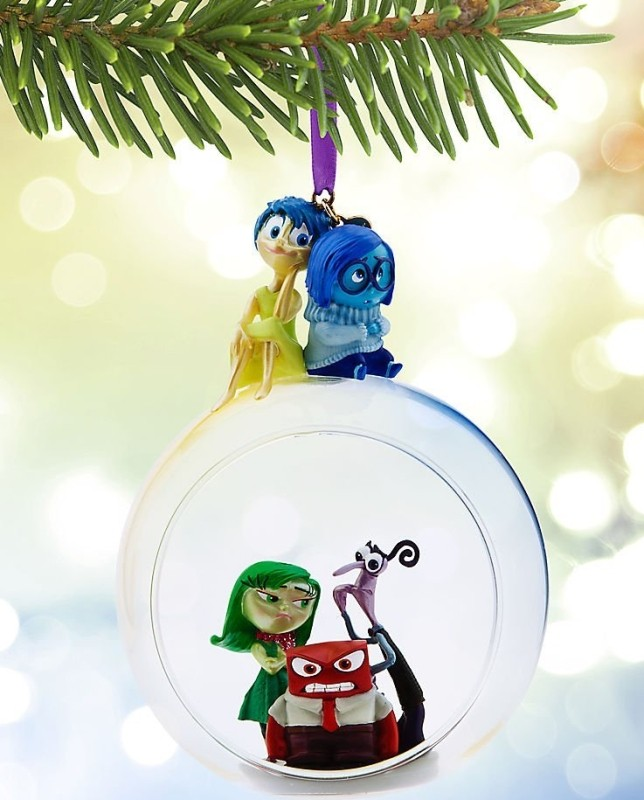 Disney Pixar Inside Out Glass Globe Sketchbook Ornament