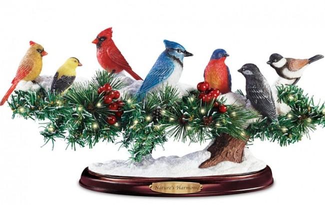 Lifelike Lights Up Winter Bird Sculpture With Sound