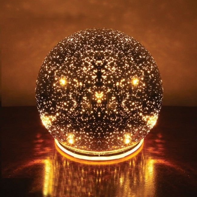 Lighted Mercury Glass Spheres
