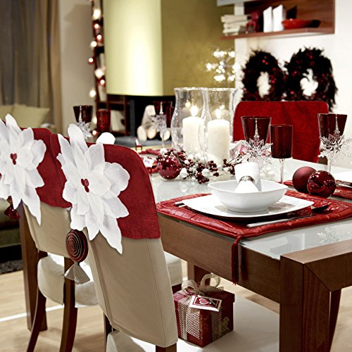 Lootus Chair Covers Christmas Flower