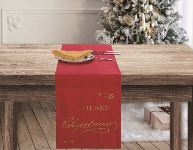 Merry Christmas Christmas Wish Holiday Table Runner
