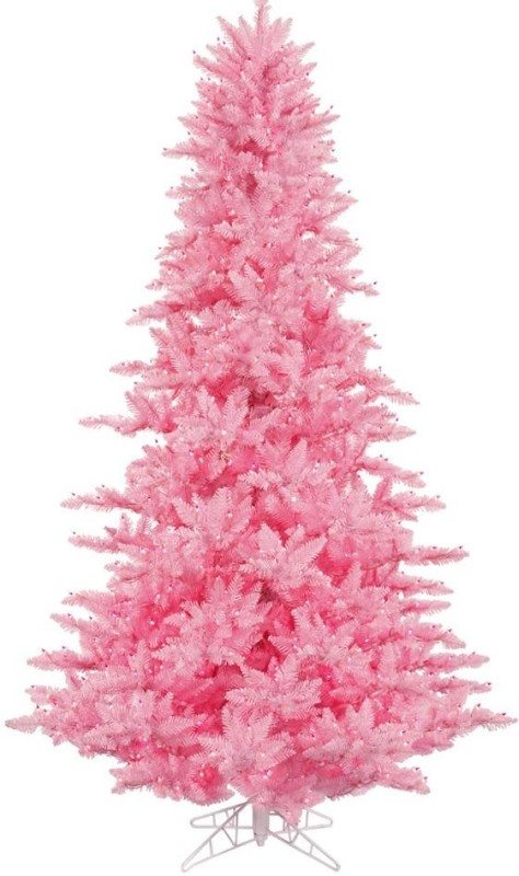 Pink Fir Pre-lit Christmas Tree