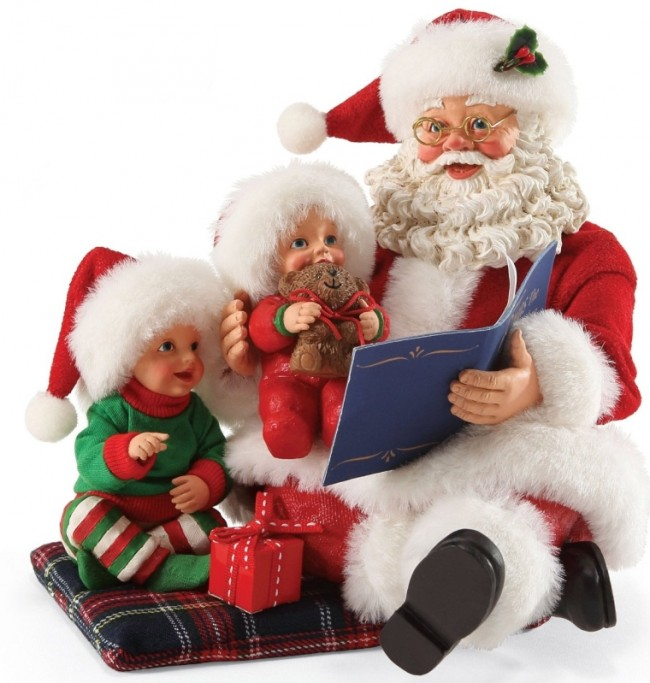 Possible Dreams Christmas Santa's Read it Again Santa Figurine